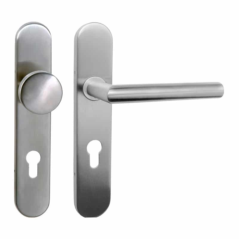 Poignée de porte d'entrée en inox Lazer fonction clé I